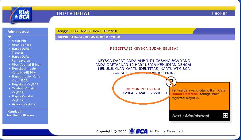 Internet Banking Bank BCA dan keyBCA cara registrasi dan aktivasi