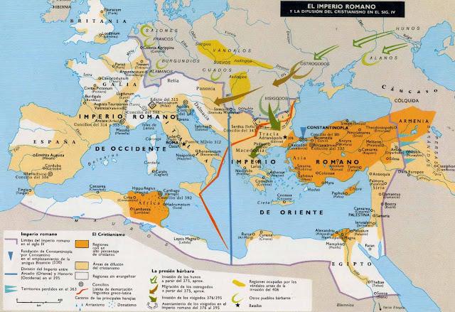 Prisciliano, Caída del Imperio Romano, Herejías cristianas