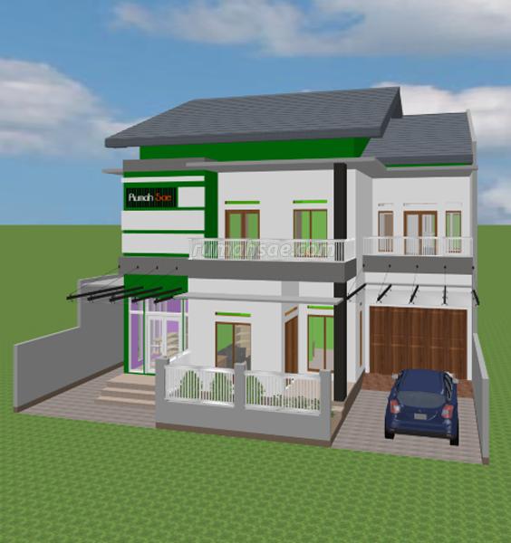Desain Rumah Islami + Toko