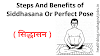 Steps And Benefits of Siddhasana or Perfect Pose | सिद्धासन
