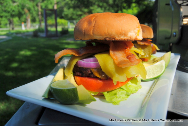 Ultimate Tex-Mex Burger at Miz Helen's Country Cottage