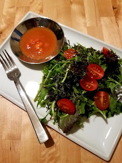 Persimmon Vinaigrette over Tossed Greens, , our suggestion for Sunday Dinner at 3:00.