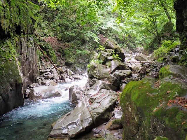 西沢渓谷 カエル岩