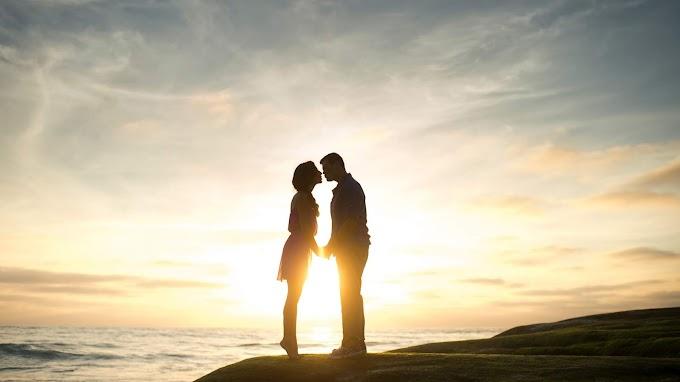 Casal, Amor, Romance, Pôr Do Sol, Mar