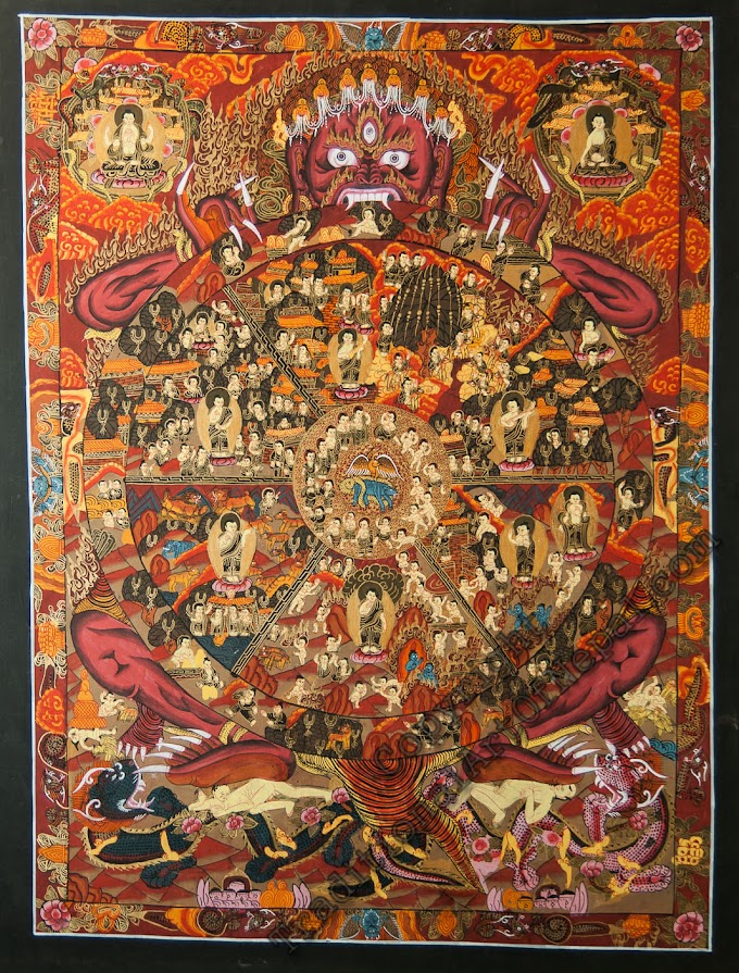 Wheel Of Life Thangka Paintings meaning with human life significance