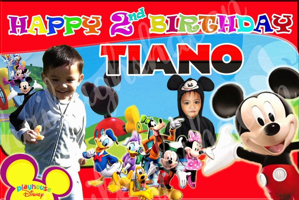 2 Year Old Girls Happy Birthday Wallpaper Tarpaulin Banner Samples Mickey And Minnie Haileigh S