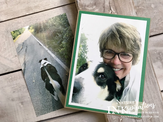 I'm miss my walking companion so much! | By Angie McKenzie for 3rd Thursdays Blog Hop; Click READ or VISIT to go to my blog for details! Featuring the 2018-2020 In Colors from Stampin' Up!; #stampinup #naturesinkspirations #lossofmansbestfriend #thirdthursdaysbloghop #photosforscrapbooks #photosforjournals  #illmissyou20182020incolors
