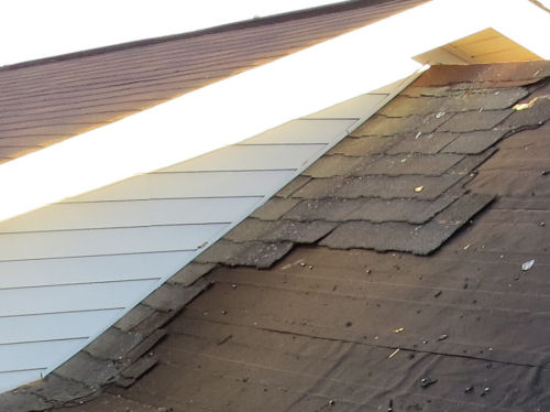 old shingles on a roof