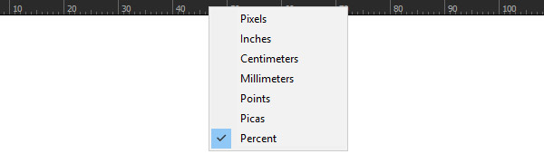 Flexibility starts when you set measurement unit to Percent using right click on Ruler