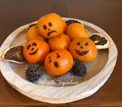 Centrotavola per Halloween con Mandarini - insieme 2 - MLI