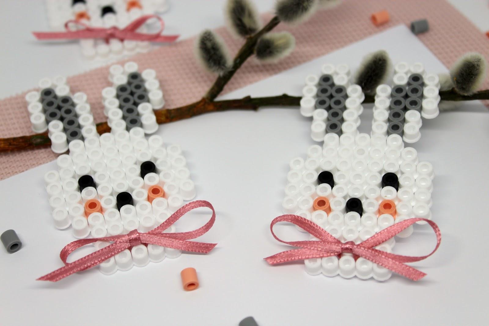 DIY Hasen aus Hama Bügelperlen selber machen - die perfekte Geschenkidee zu Ostern