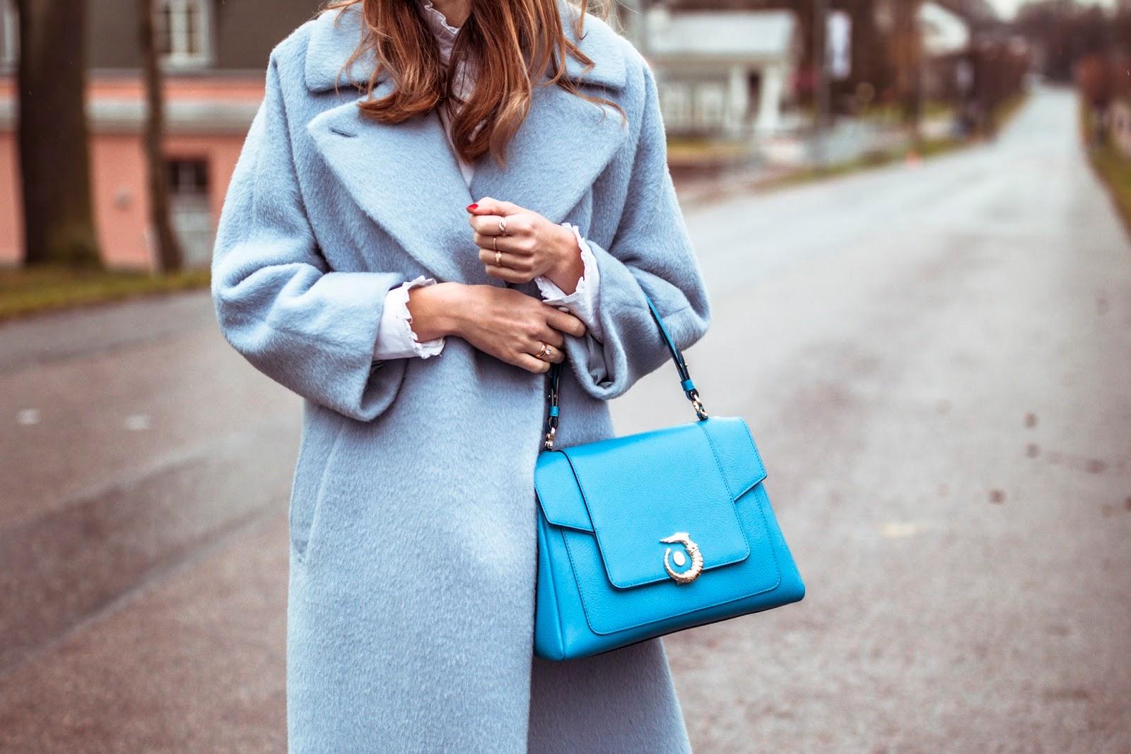 max mara coat trussardi lovy bag