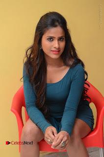 Telugu Actress Prasanthi Stills in Green Short Dress at Swachh Hyderabad Cricket Press Meet  0060.JPG