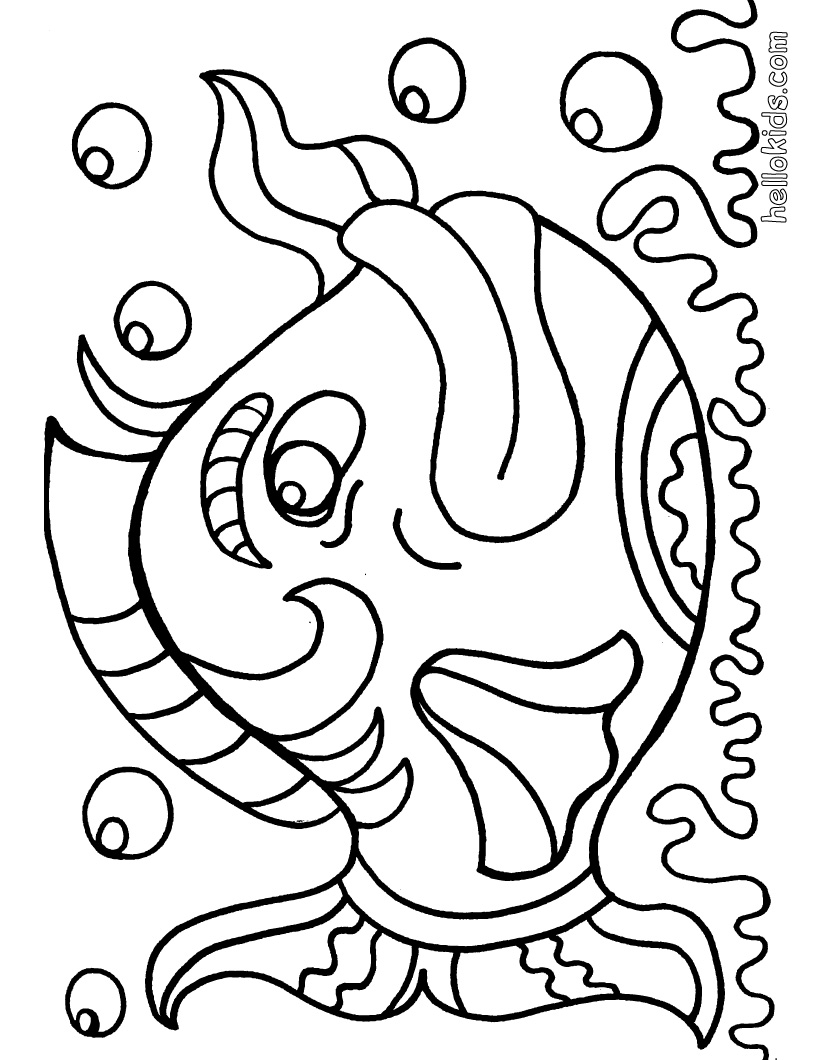 Free Fish Coloring Pages for Kids >> Disney Coloring Pages