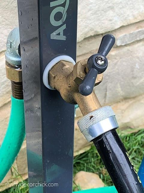 extend hose and spigot to garden or yard