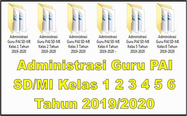 Administrasi Guru PAI SD/MI Kelas 1 2 3 4 5 6 Tahun 2019/2020 - Guru Krebet 3