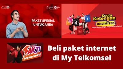Cara beli paket internet di My Telkomsel
