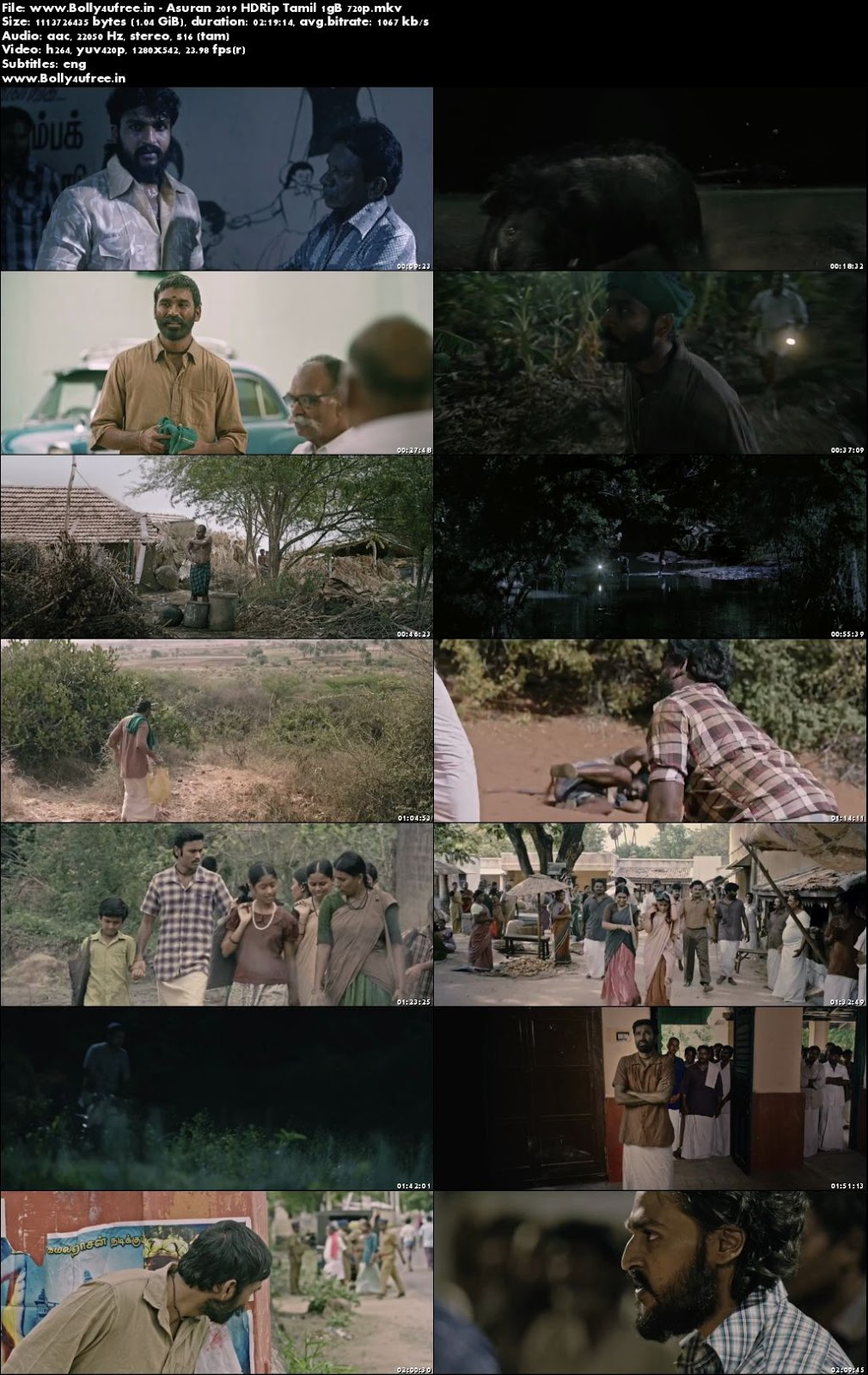 Asuran 2019 Full Tamil Movie Download HDRip 400MB 480p ESub