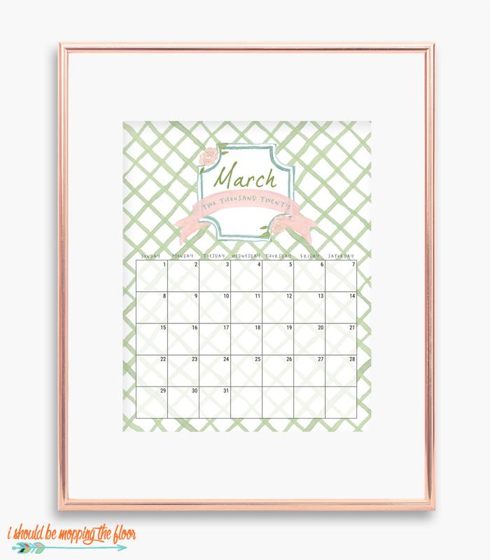 March French Calendar