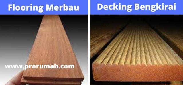 flooring merbau - decking bengkirai