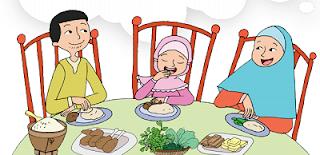 Kegiatan Bersama dengan Orang Tua saat makan bersama www.jokowidodo-marufamin.com