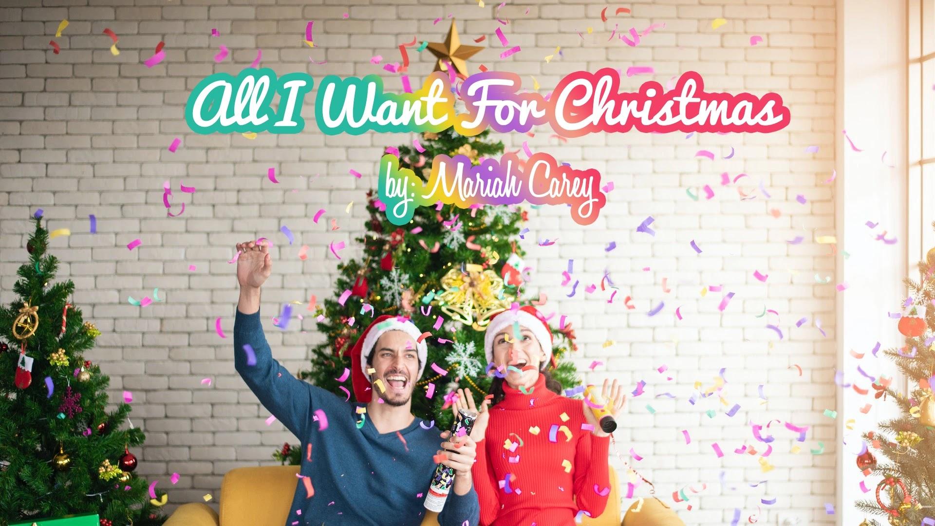 Couple bonding All I Want For Christmas