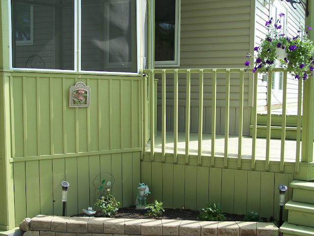 A planter in front of the gazebo