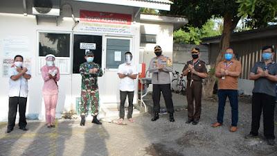 Forkopimda dan Gugus Tugas Covid- 19  Kunjungi Perusahaan Tangguh di Desa Landangan