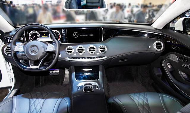 Bảng taplo Mercedes S500 4MATIC Coupe 2018 được ốp gỗ Designo sang trọng