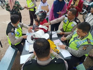 Razia Rutin Satlantas Polresta Jambi, Puluhan Surat Tilang Dikeluarkan