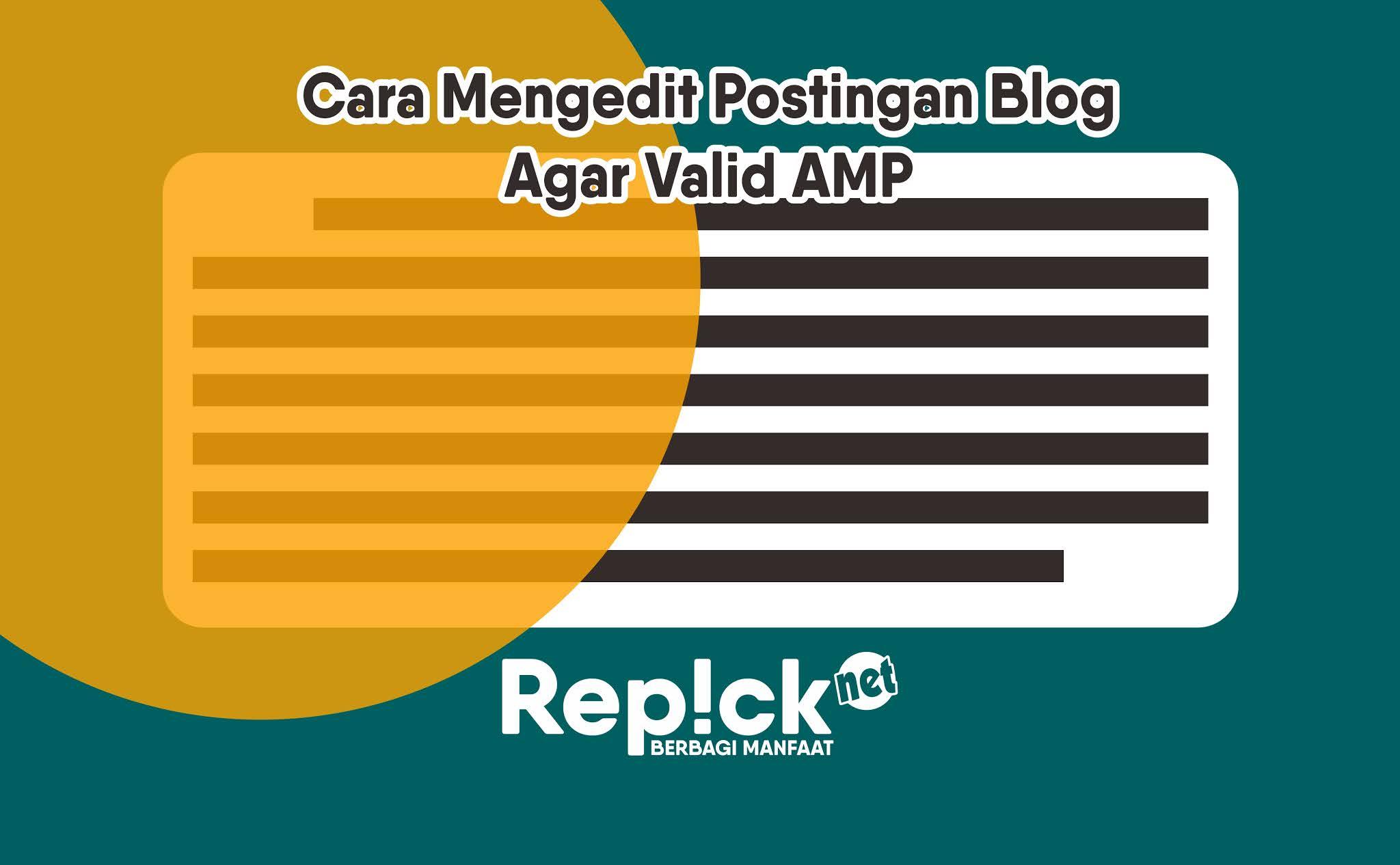 cara membuat postingan valid amp
