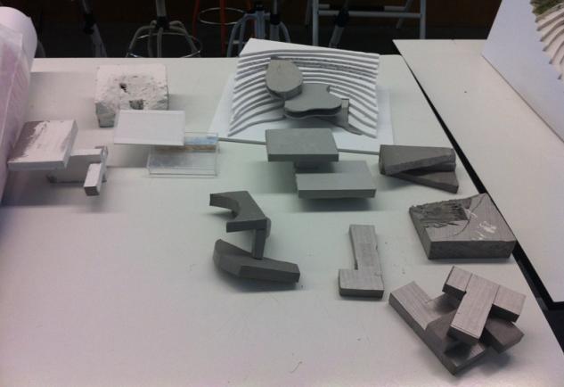 Fotos de maquetas de estudiantes de arquitectura