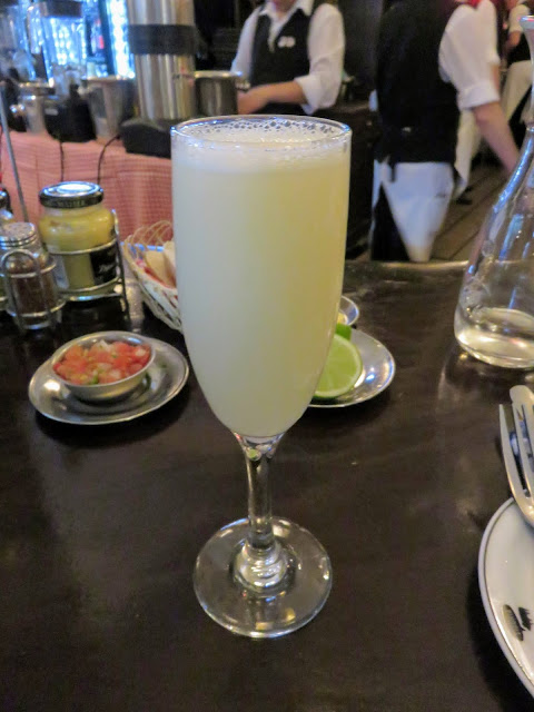 Chilean Pisco Sour at Cafe Liguria in Santiago Chile