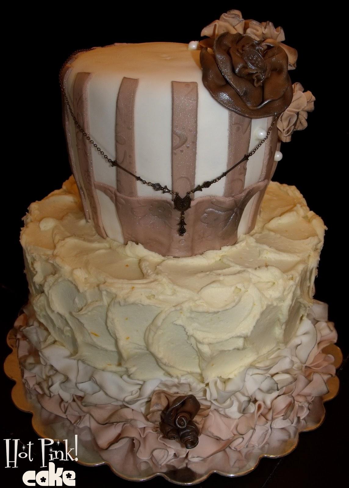 Hot Pink Cakes 100 Years Vintage Birthday Cake