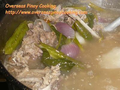 Sinigang na Lechon - Cooking Procedure