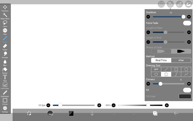 Drawing Tool:Regular Polygon in ibisPaint X