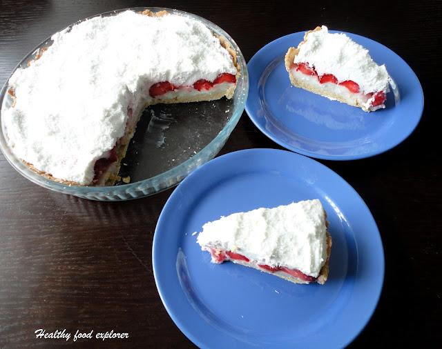 Dietetyczne ciasto z truskawkami