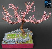 Poradnik tworzenia i malowania dioramy Drzewa Kwitnącej Wiśni