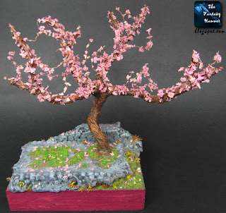 Cherry Blossom Land - tree diorama