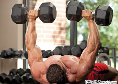Dumble Bench Press to make a strong and wide chest healthcareout.com