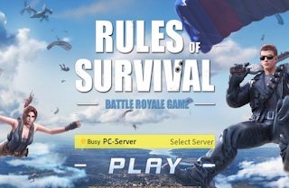 Solusi ROS rules of survival eror not responding pas login