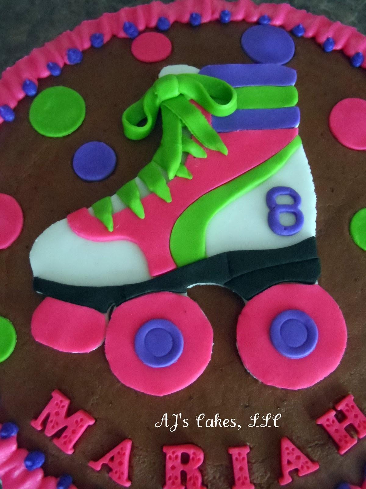 Aj S Cakes Neon Rollerskate Cake