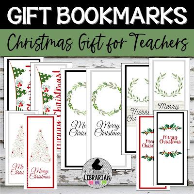 Teacher Christmas gift, gift bookmarks, librarian gift