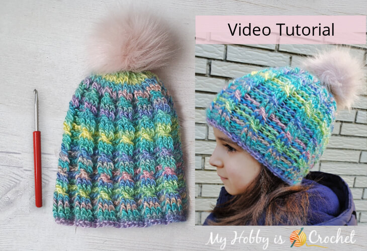 How to Crochet Unforgettable Cable Rib Hat