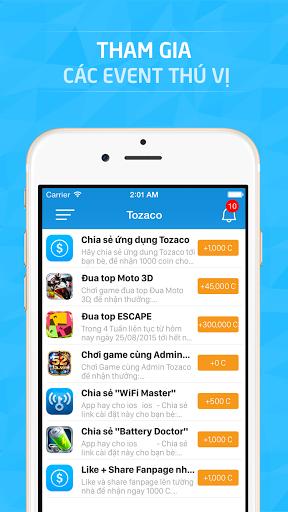 Tozaco - kiem the cao online tren di dong