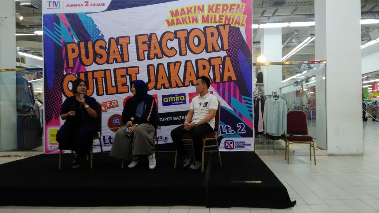 sharing session di factory outlet jakarta