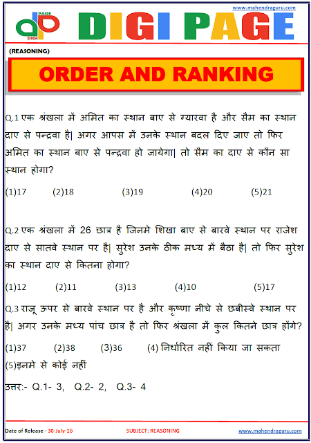 Digi Page - Order and Ranking