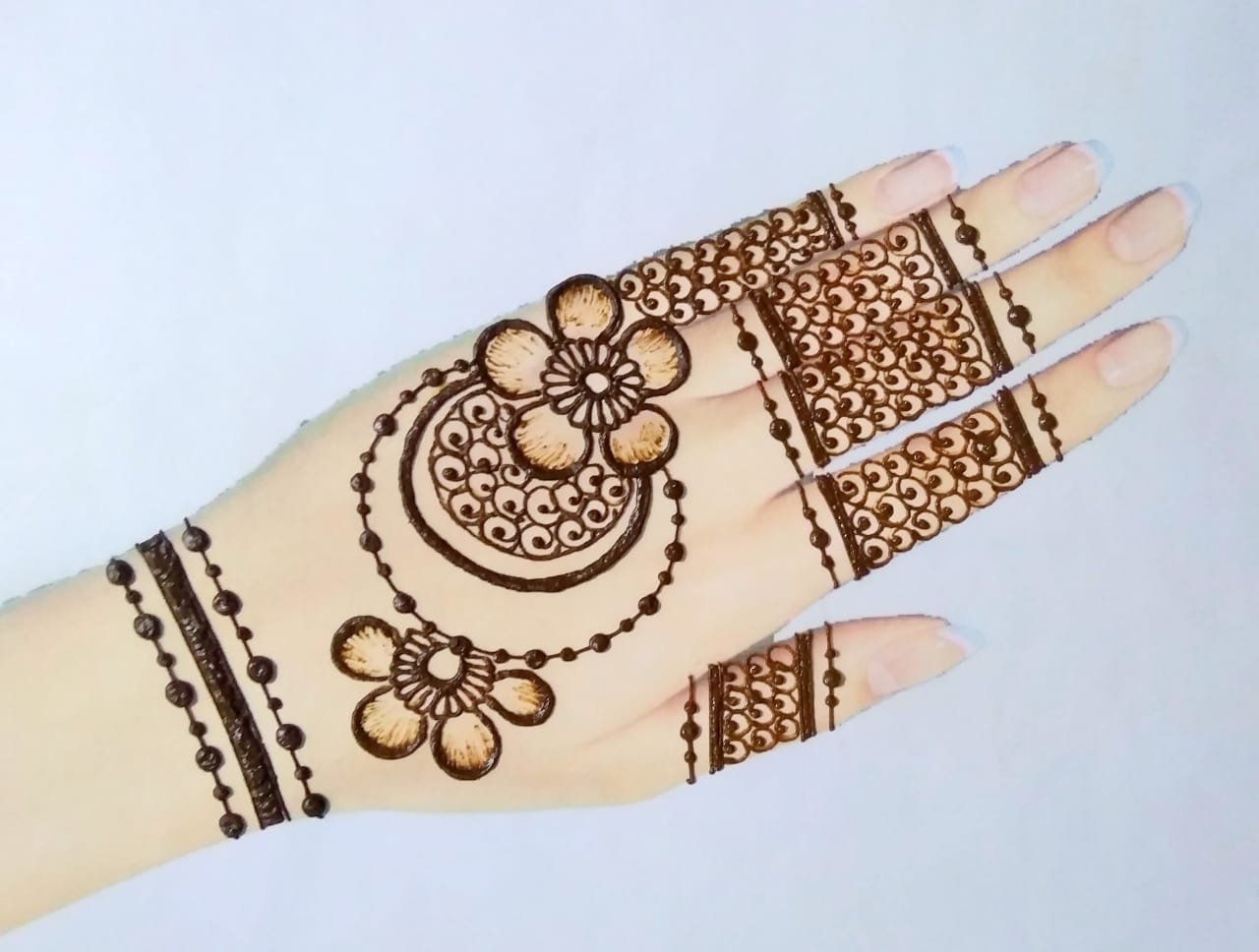 Simple Mehndi Design & Arabic
