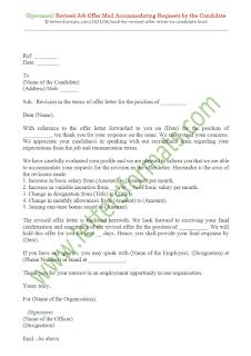 mail for revised offer letter