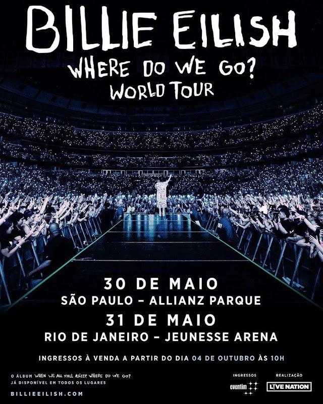 Billie Eilish no Brasil em Maio / 2020